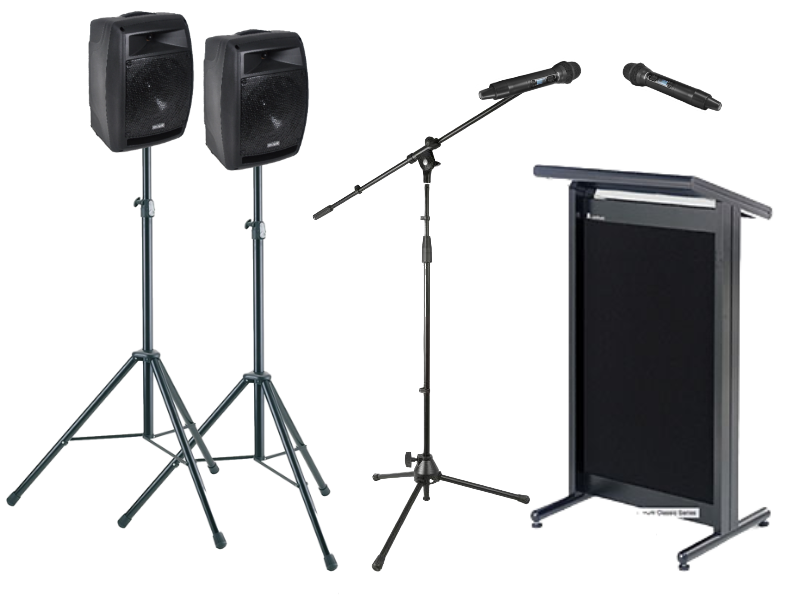 Microphone Hire Presentation PA Package